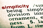 the word simplicity in a dictionary